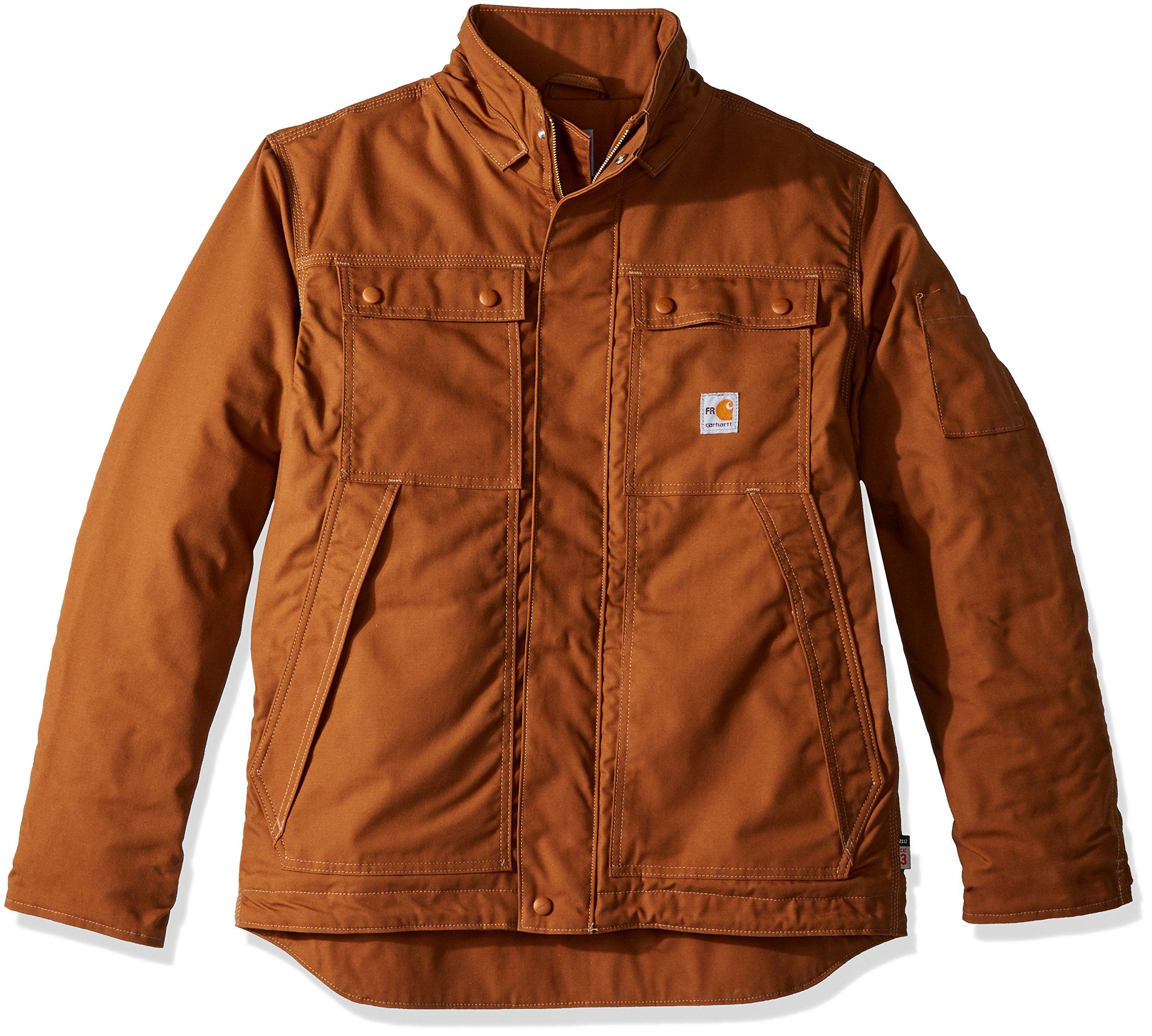 Carhartt Men's Flame Resistant Full Swing Quick Duck Coat, Brown, 2X-Large by Carhartt