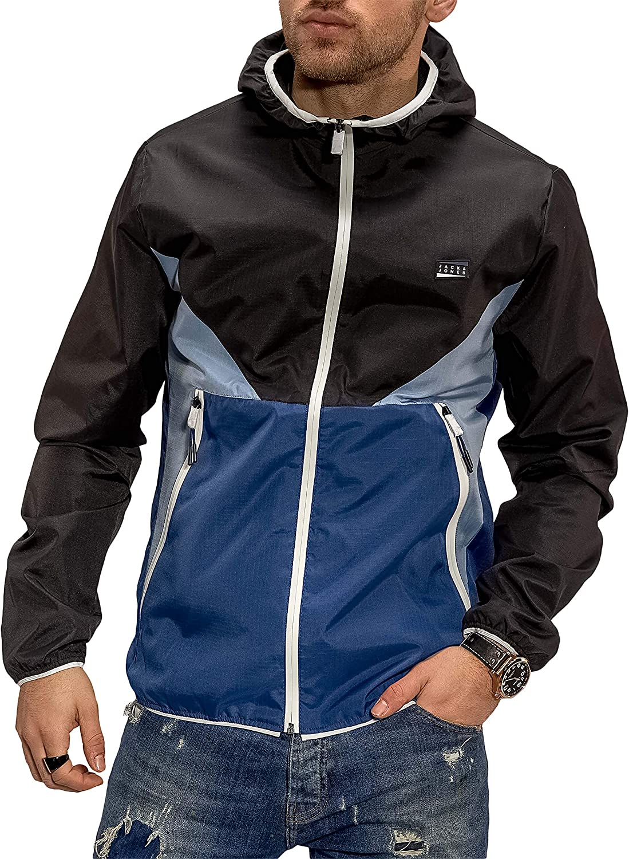 JACK /& JONES Herren /Übergangsjacke Kapuzenjacke Color Blocking Casual Streetwear