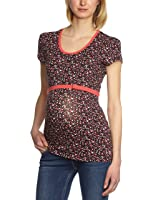 ESPRIT Maternity Damen Umstandsmode Shirt/ Top Q84732, Rundhals, gepunktet
