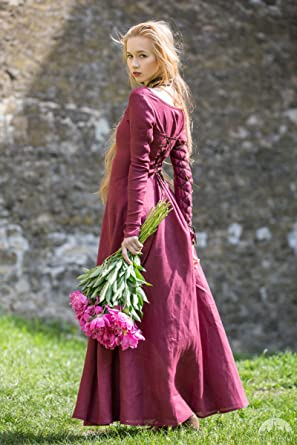 Image Unavailable. Image not available for. Color  ArmStreet Medieval Style Linen  Dress