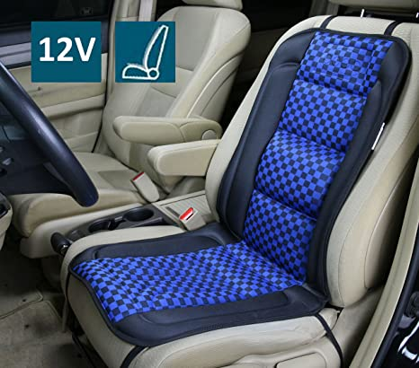 ObboMed SH 4170B 12V 45W Deluxe Heated Seat Cushion Cover With Lumbar Support Premium