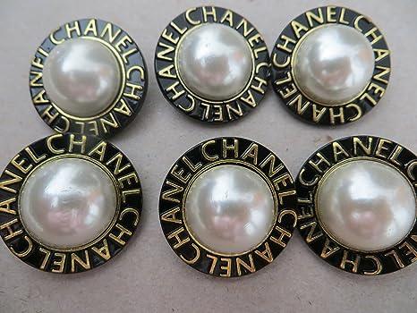 Coco Chanel Pearl botones de costura; Juego de 6