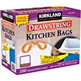 Kirkland Signature  Gallon White Drawstring Kitchen Bag  Count