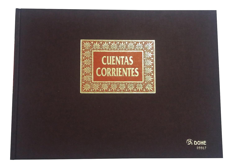 Dohe 9917 - Libro de contabilidad, cuentas corrientes, folio apaisado