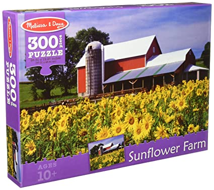 Amazon Com Melissa Doug Sunflower Farm And Red Barn