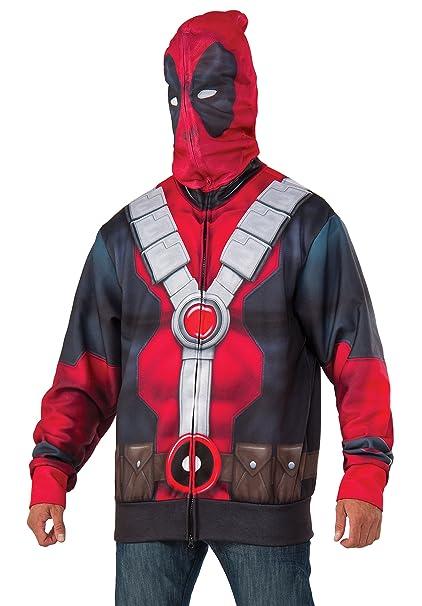 Amazon.com: Rubie s Hombre deadpool Costume Sudadera con ...