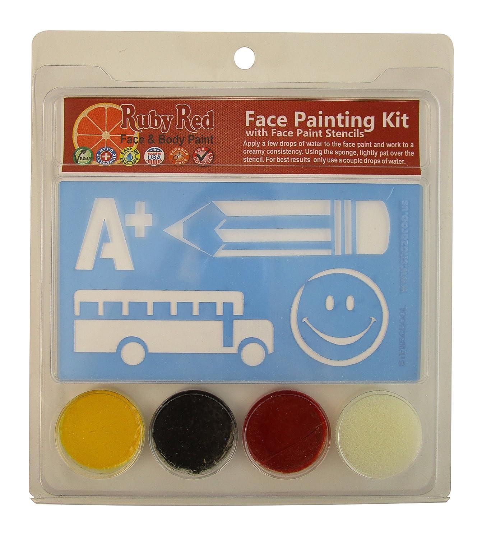 Snazaroo School Days Face Paint Kit with Stencils By Snazaroo [並行輸入品]   B004WX7SGK