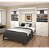 136 in. Queen Wall Bed Kit in White