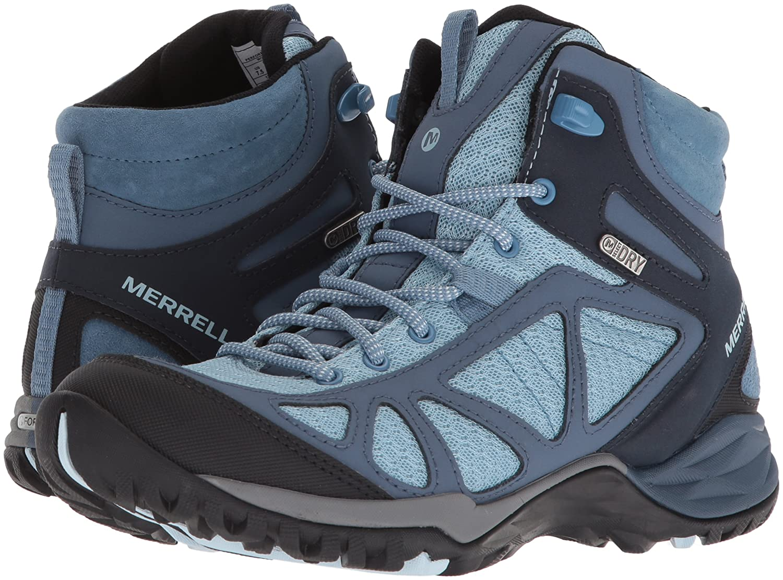 Merrell Women's Waterproof Siren Sport Q2 Mid Waterproof Women's Hiking Boot B071P32C28 6 B(M) US|Blue 5c62b0