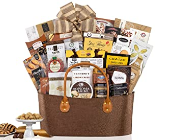 CD3239750 Gourmet Choice Gift Basket for Christmas and personalized card mailed seperately