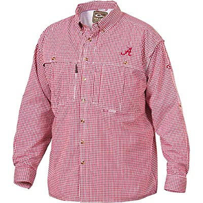 Alabama Plaid Wingshooter's Shirt Long Sleeve Crimson X-Large | Amazon.com
