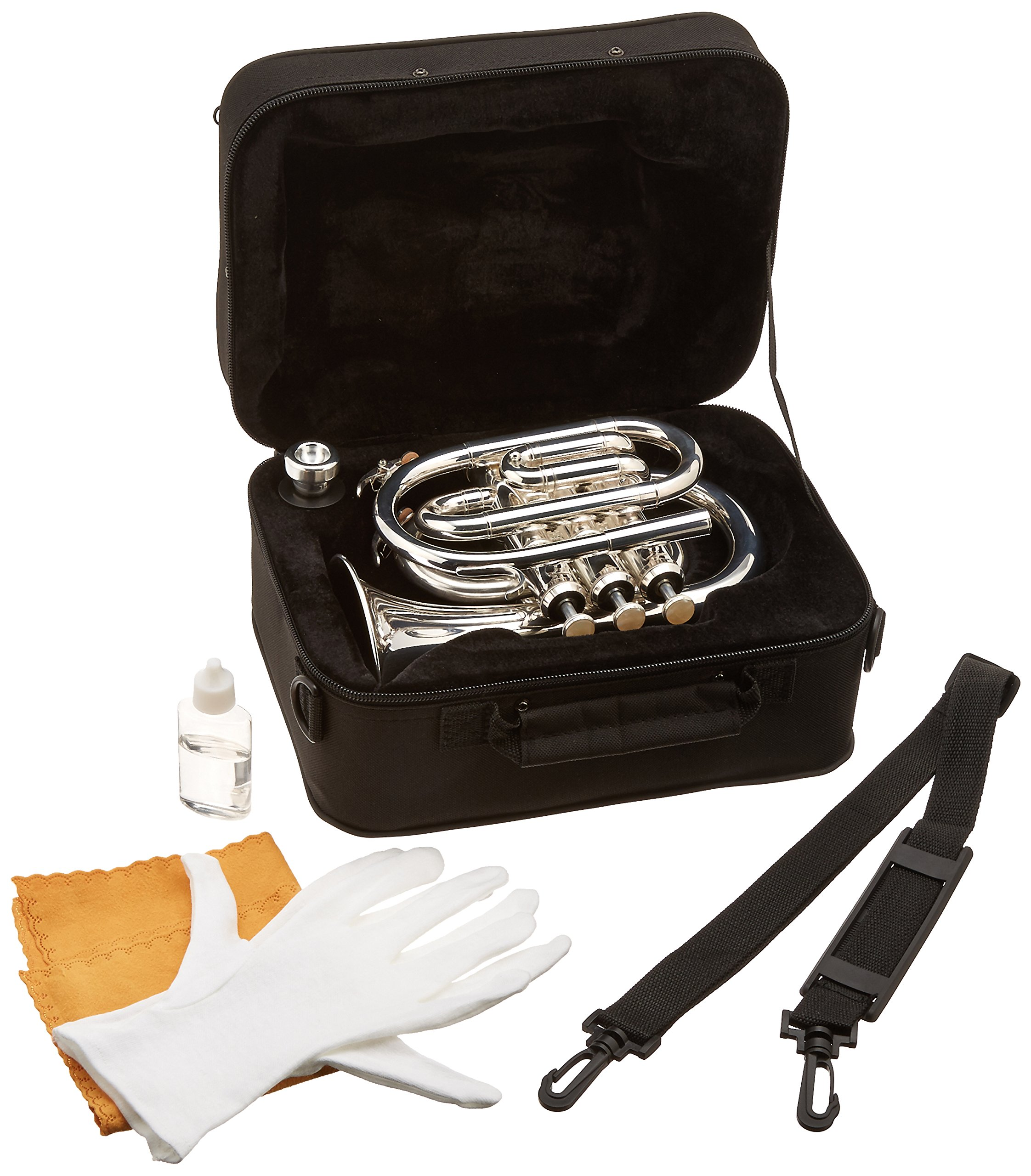 Ravel RPKT1SLVR Pocket Trumpet - Silver by Ravel (Image #2)
