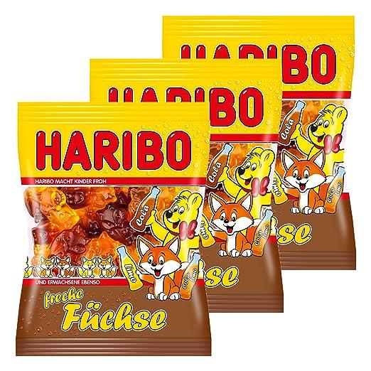 Haribo Freche Zorros, 3 Unidades, Ositos de Goma, Vino Goma ...