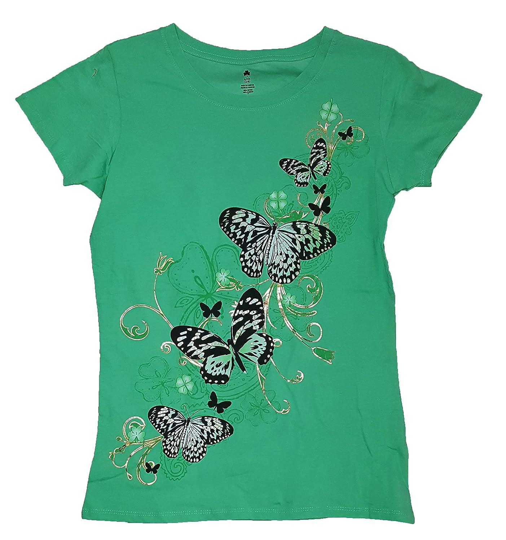 St. patrick's day Lucky Flutter Butterflies Green Graphic TShirt