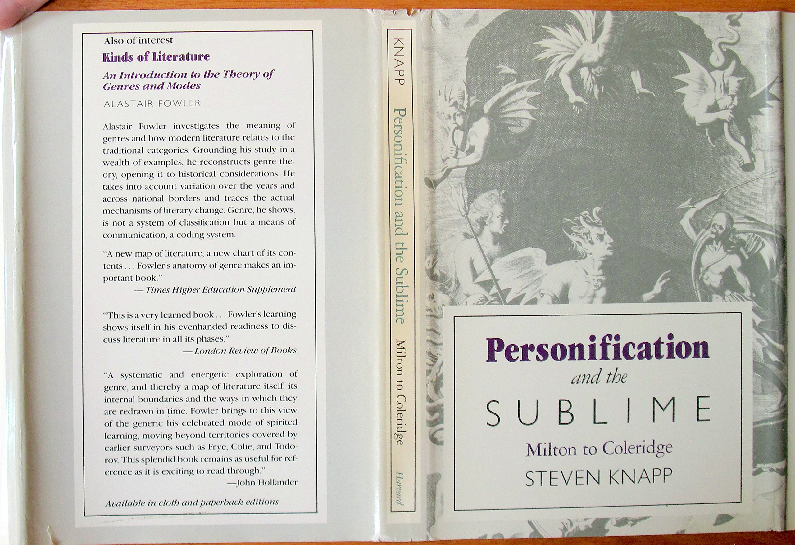 Personification And The Sublime Milton To Coleridge Amazon