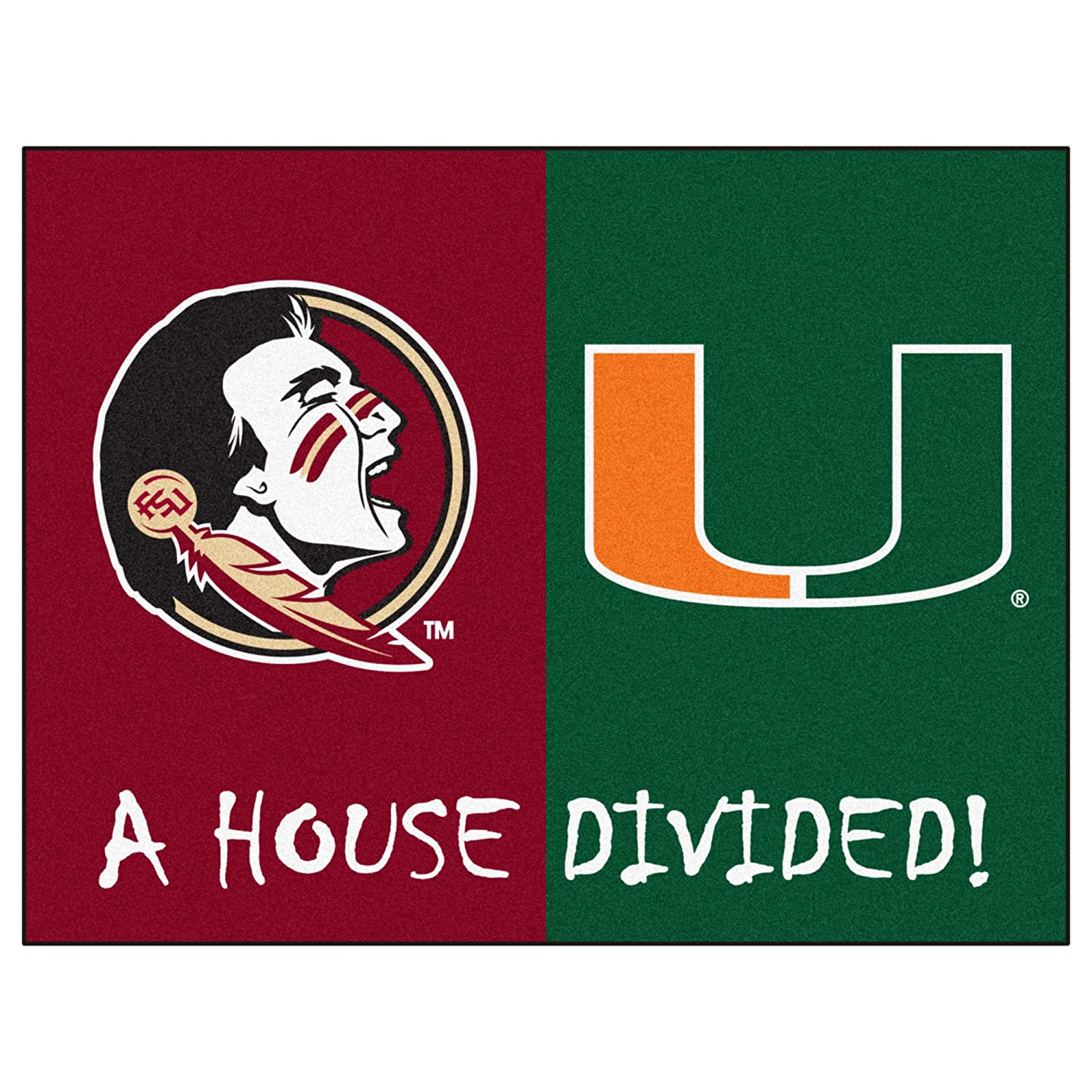 FANMATS NCAA House Divided Nylon Face House Divided Rug
