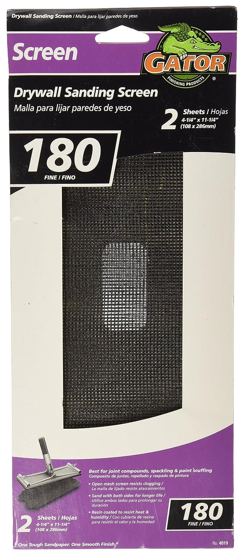 4-3//8 X 11 180-Grit Drywall Sanding Screens ALI INDUSTRIES 4019 Pack of 2