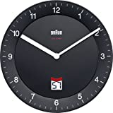 BRAUN - BNC006BLA-BK - Horloge murale analogique et digitale - noir