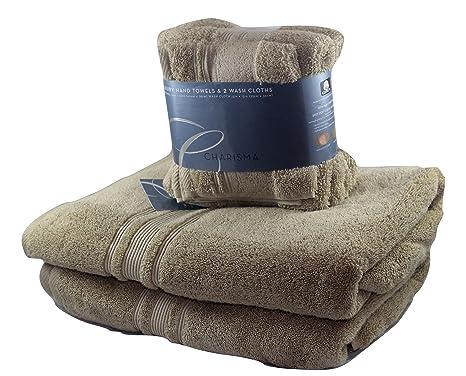 CARISMA toalla de baño, toalla de mano y lavar Paño 6 pc set – caqui