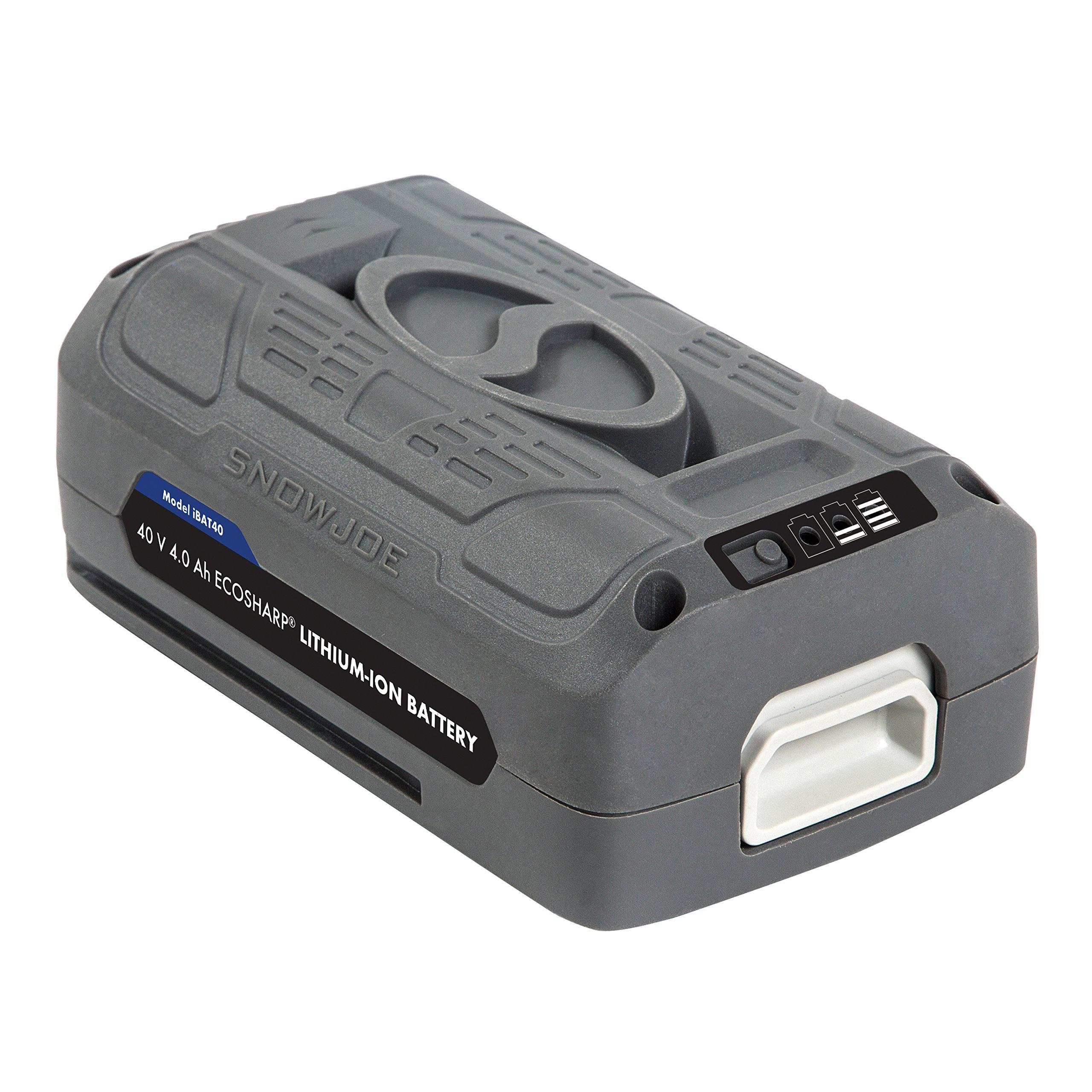 Snow Joe + Sun Joe iONMAX iBAT40 EcoSharp Lithium-Ion Battery | 40 Volt | 4.0 Ah by Snow Joe (Image #2)
