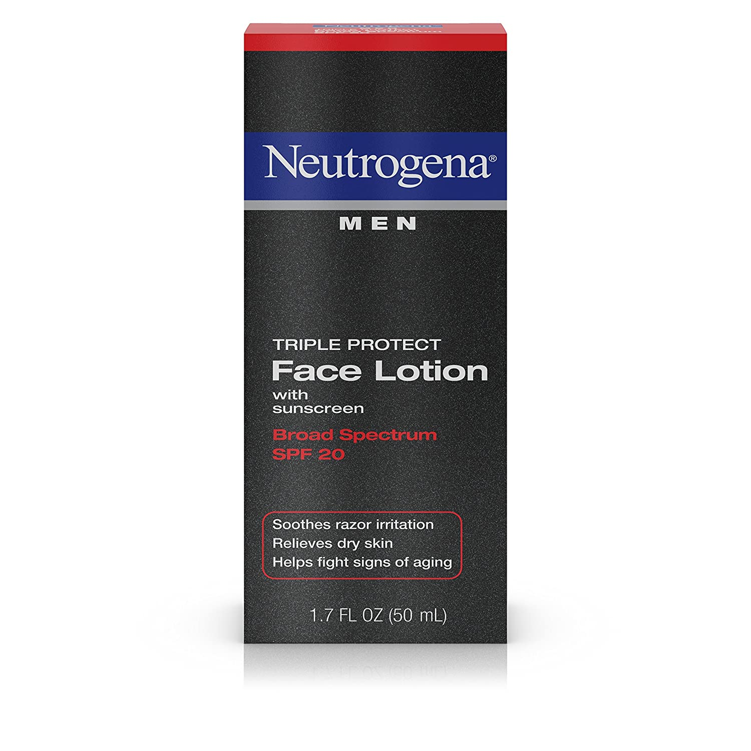 Neutrogena Triple Protect Men's Daily Face Lotion with Broad Spectrum SPF 20 Sunscreen, Moisturizer to Fight Aging Signs, Soothe Razor Irritation & Relieve Dry Skin, 1.7 fl. oz ( Pack of 2) Johnson & Johnson SLC 070501020135