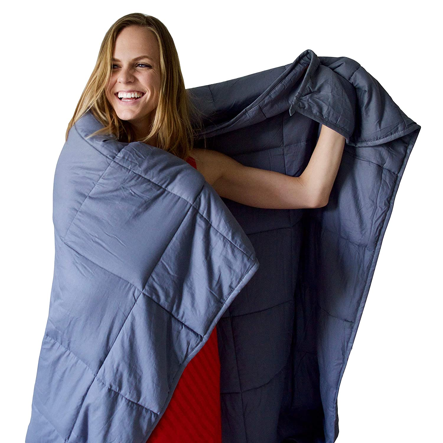 """4dc0d817f1 Amazon.com  Weighted Blanket by Heavy Sleeper - For Child and Adults 15 lbs  60"""" x 80"""""""
