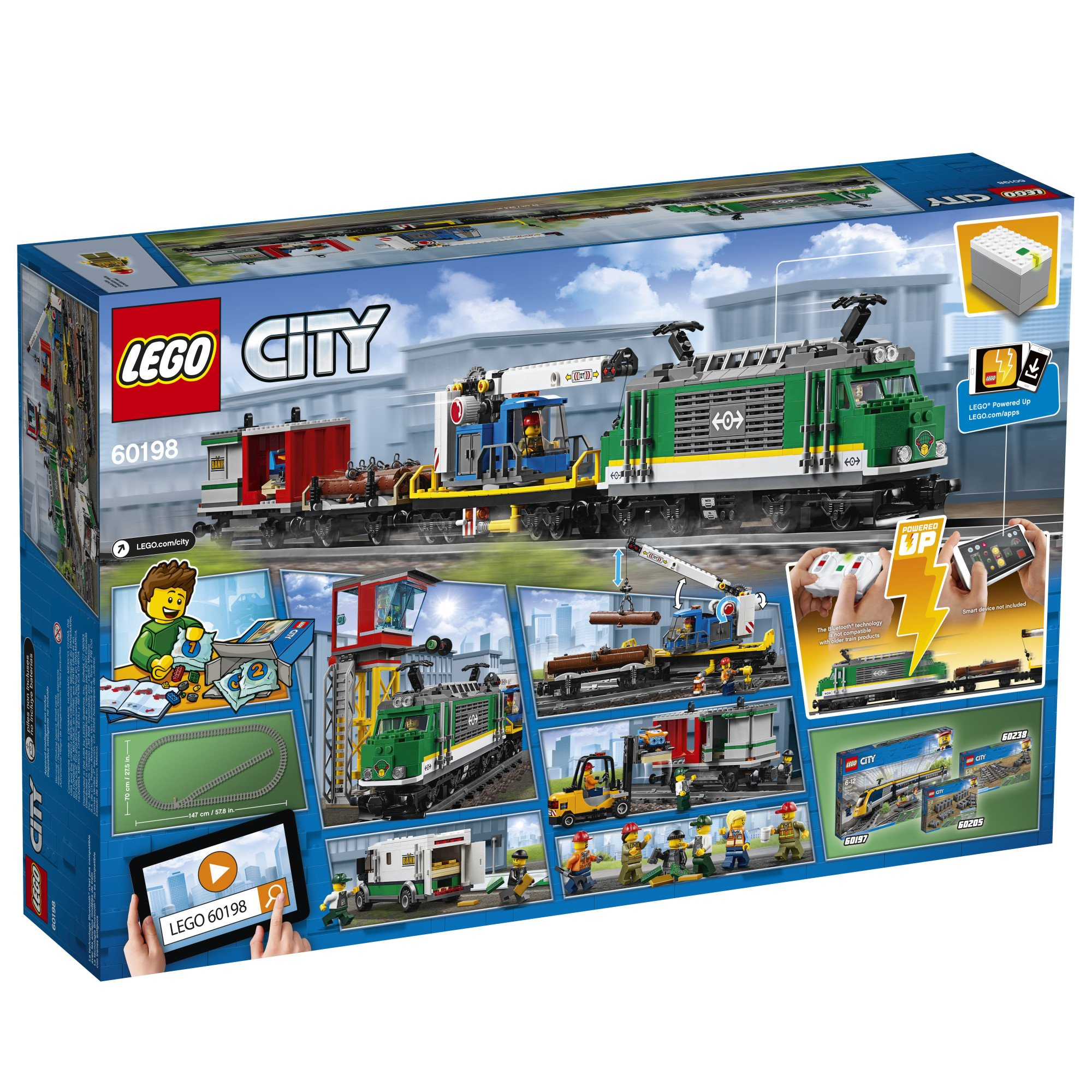 LEGO City Cargo Train 60198 Remote Control Train Building ...