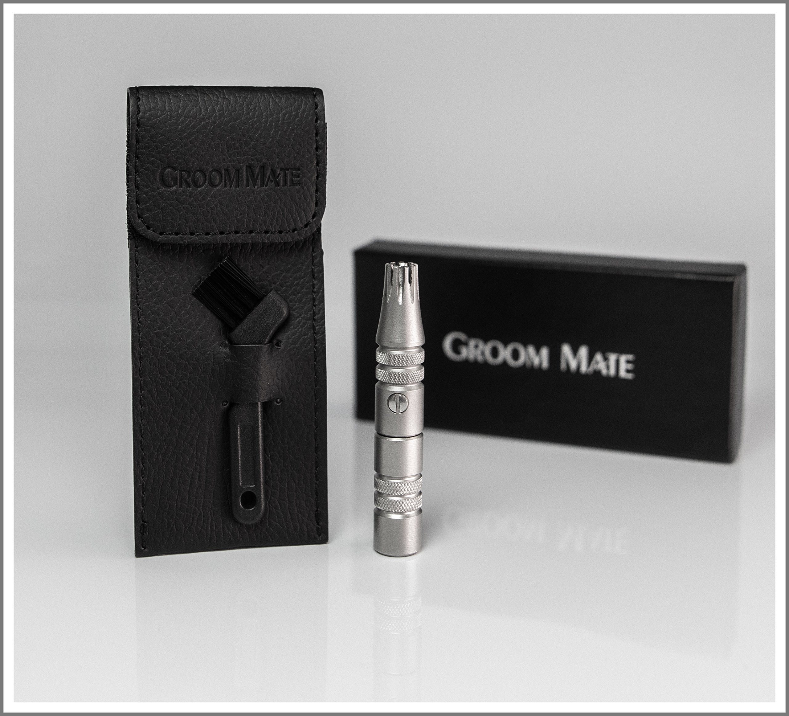 Groom Mate Platinum PLUS Nose & Ear Hair Trimmer w/ - Made in USA!