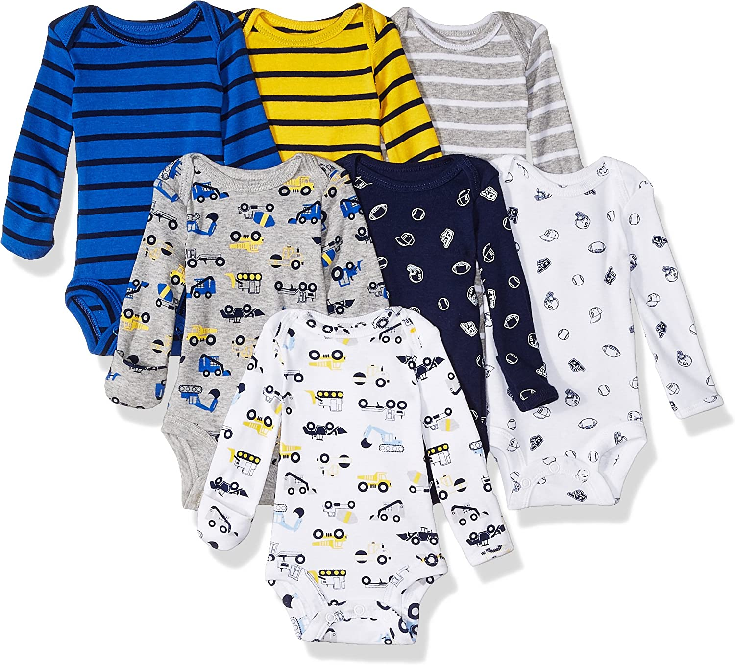 Carters Baby-Girls 7-Pack Long-Sleeve Bodysuits Bodysuit