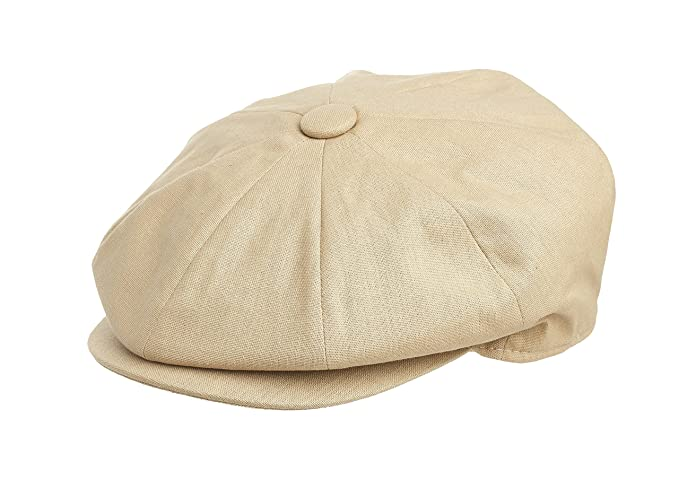 80e2e048077 Peaky Blinders Men s 8 Piece  Newsboy  Style Flat Cap 1005 Cotton (Medium (