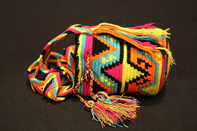 Mochila Wayuu - Bolso cruzados de Lana para mujer multicolor Carreto: Amazon.es: Zapatos y complementos