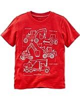 Carter's Baby Boys' Short Sleeve Construction Jersey Tee