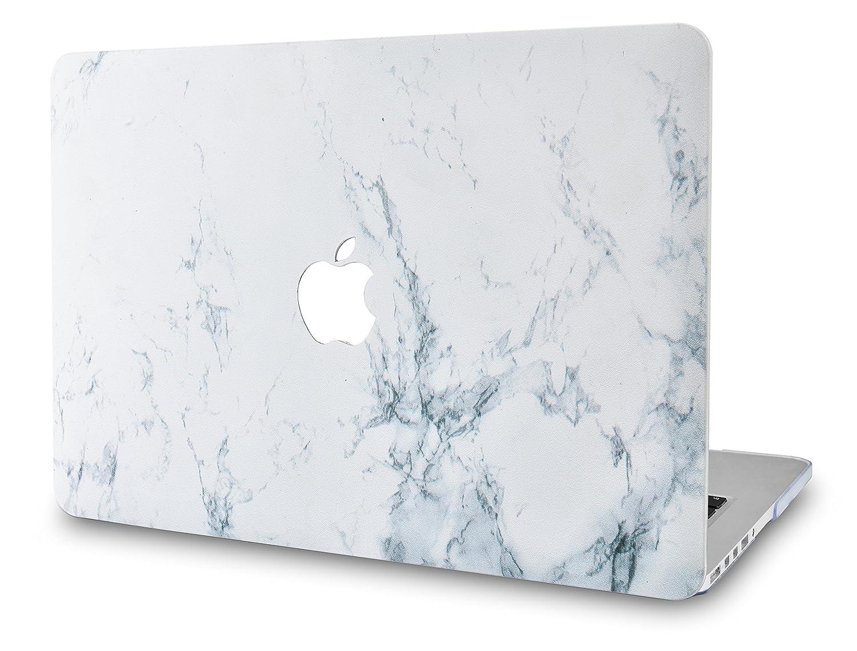 KECC MacBook Pro Retina 15 Pulgadas Funda Dura Case Cover Viejo MacBook Pro 15.4 Retina Ultra Delgado Plástico{A1398} (Mármol Blanco)
