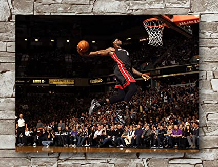 Amazon Com Lebron James Miami Heat Poster Standard Size 18 Inches By 24 Inches Lebron James Nba Photo Posters Wall Poster Print Sports Outdoors