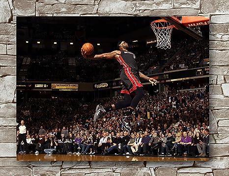 4f3eb7b79e093 Amazon.com: Lebron James Miami Heat Poster Standard Size | 18-Inches ...