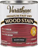 Rust-Oleum 307414 Premium Fast Dry Wood Stain, 32 oz, Barn Red