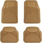 AmazonBasics Alfombrilla para coche, 4 piezas, beige