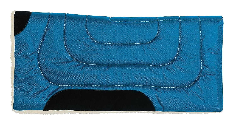 bluee Weaver Leather 35-1673-P1 Fleece Lined Acrylic Saddle Pad