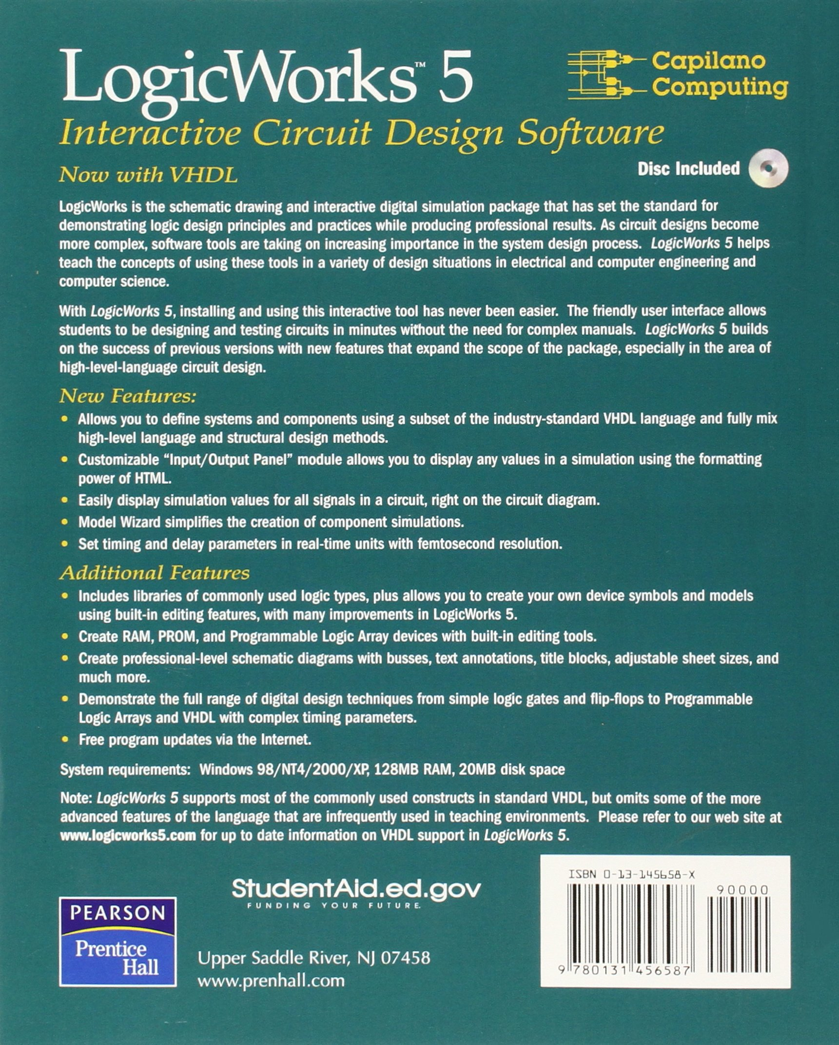 Logicworks 5 Interactive Software Capilano Computing X 9780131456587 Books Amazon Ca