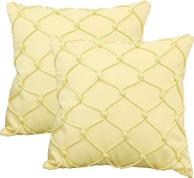 x2 18 x 18 Burlap Cushion