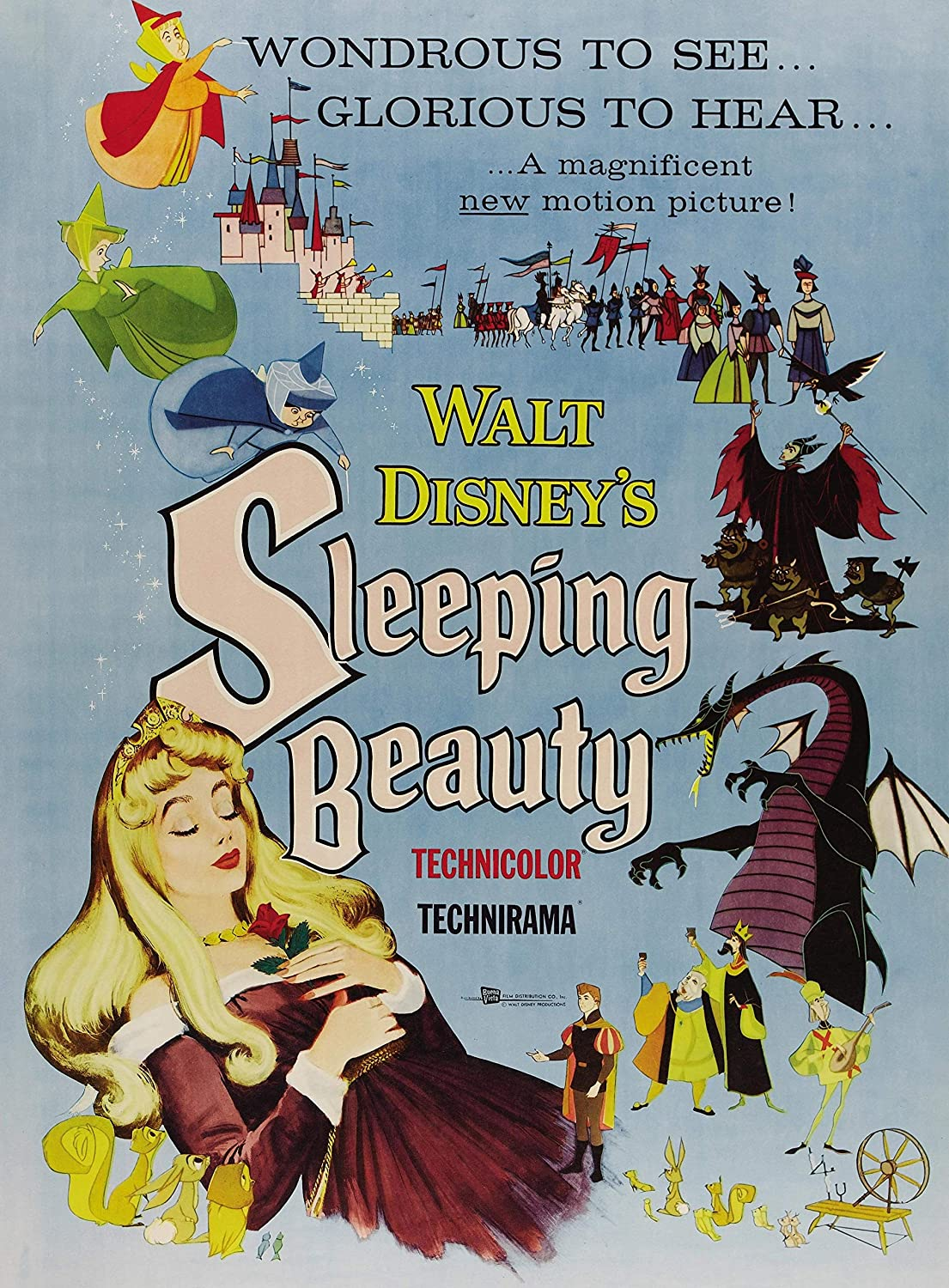 Sleeping Beauty Classic Movie Poster Poster A3//A2 Print