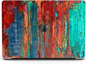 Wonder Wild Case for MacBook Air 13 inch Pro 15 2019 2018 Retina 12 11 Apple Hard Mac Protective Cover Touch Bar 2017 2016 2020 Plastic Laptop Print Colorful Board Contemporary Texture Wood Paint Art