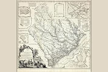 Amazon antique map province of south carolina by james cook antique map province of south carolina by james cook 1773 freerunsca Image collections