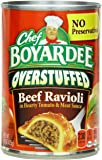 Chef Boyardee Big Beef Ravioli, Overstuffed, 15 Ounce