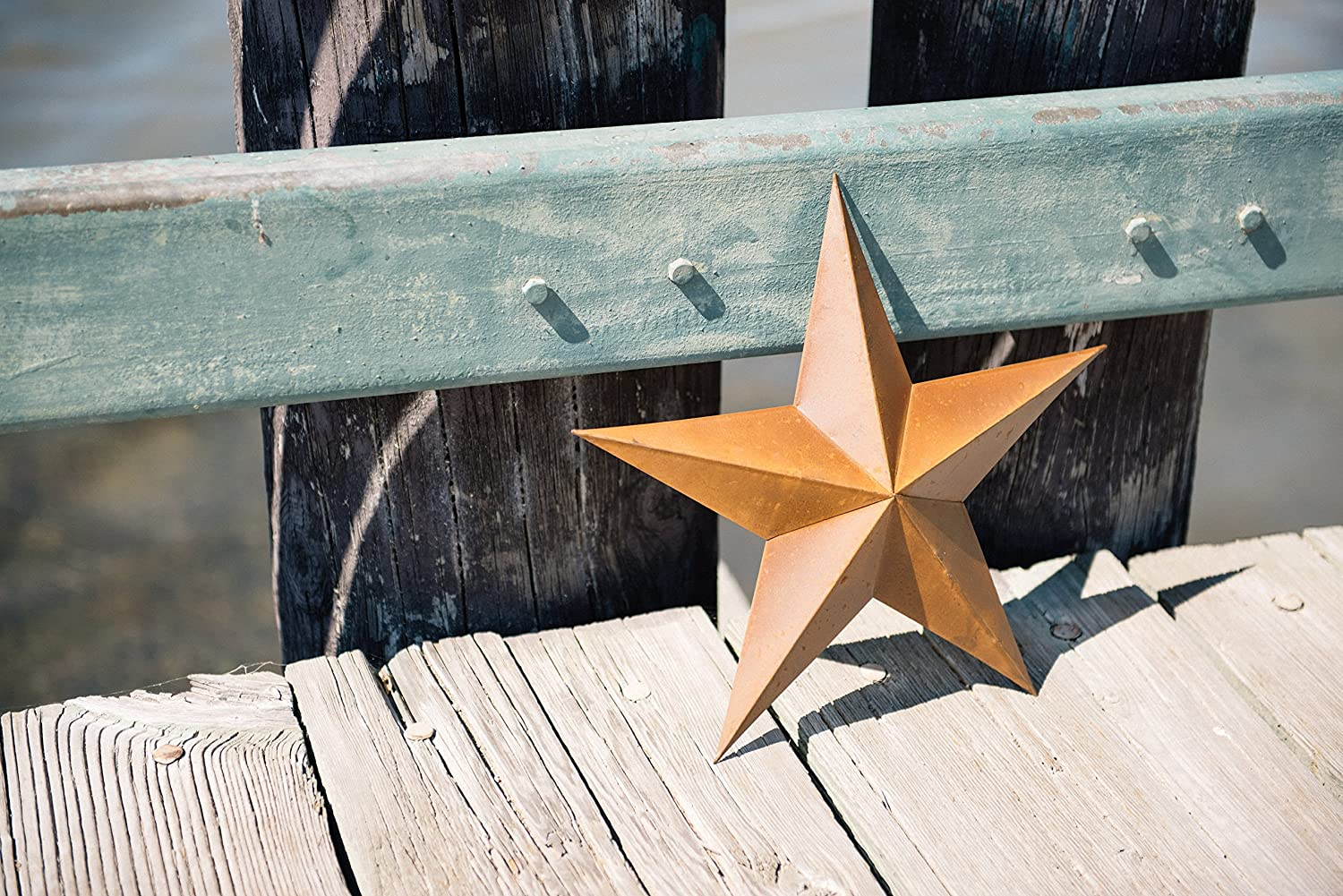 Craft Outlet Tin Star Wall Decor 15-Inch Black