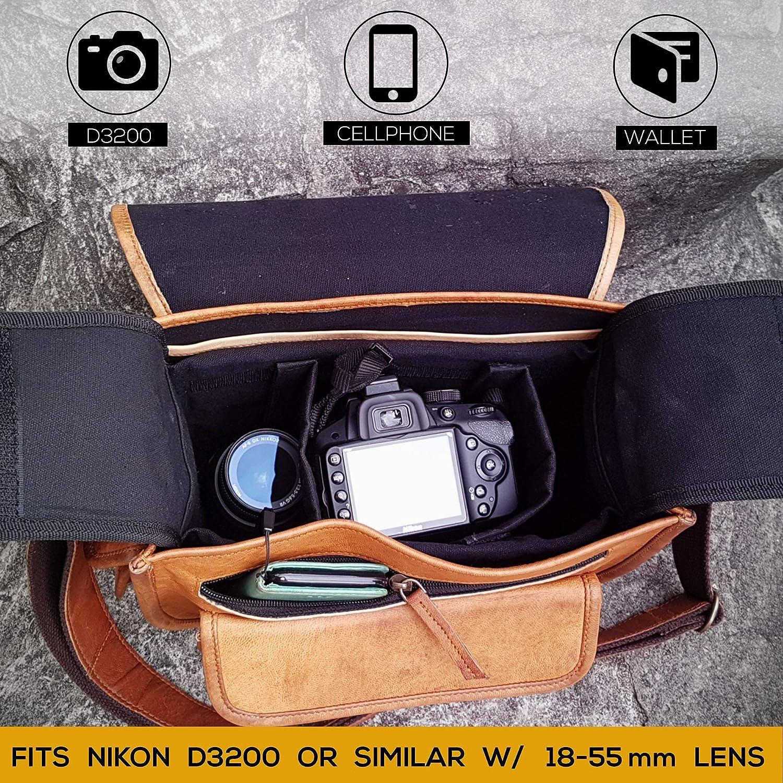 Cámara SLR Lente de Cámara acolchado bolsa de transporte Insertar Bolso Cubierta para D Lente 18-55