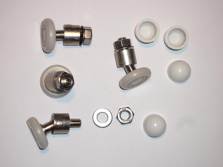 4 Nuevos reemplazos rodillos giratorios para puertas de ducha ...