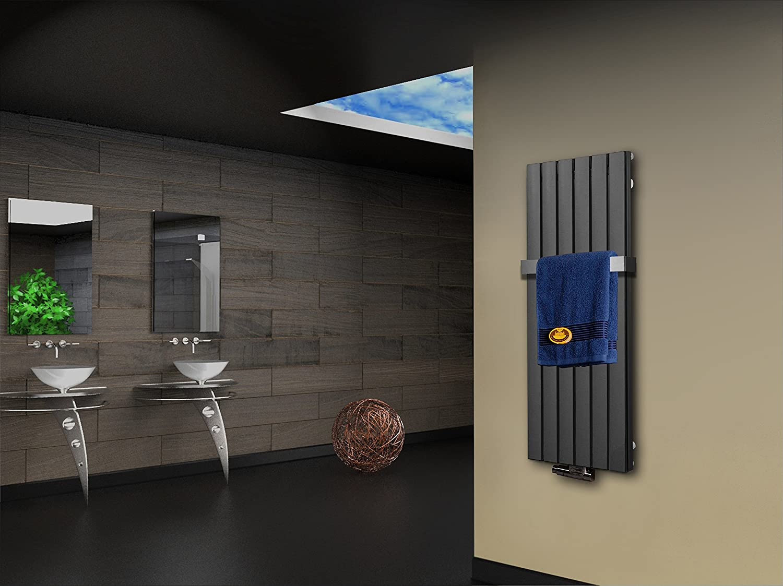 Badheizkörper Heimwerker 120x47cm 799 Watt Edelstahloptik