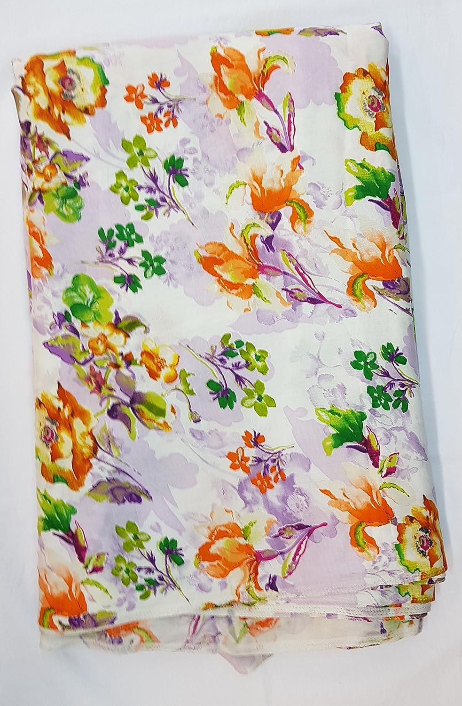 5ac08b276b Sri Narsingh Cloth Emporium Women s Cotton Dress Material( Off-white )   Amazon.in  Clothing   Accessories