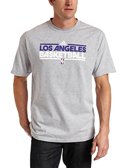 6f1e7ced7 Amazon.com   NBA Los Angeles Lakers Practice Short Sleeve Tee (Grey ...